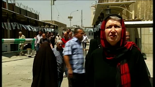 baghdad residents fear return of sectarian conflict iraq baghdad int various of worshippers attending friday prayers in sunni mosque uncluding prayer... - prayer beads stock videos & royalty-free footage