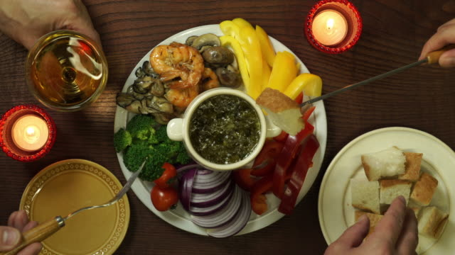 bagna cauda / cinemagraph - french food wine stock videos & royalty-free footage