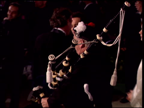 bagpipes at the 1996 academy awards vanity fair party at morton's in west hollywood, california on march 25, 1996. - bagpipes stock videos & royalty-free footage