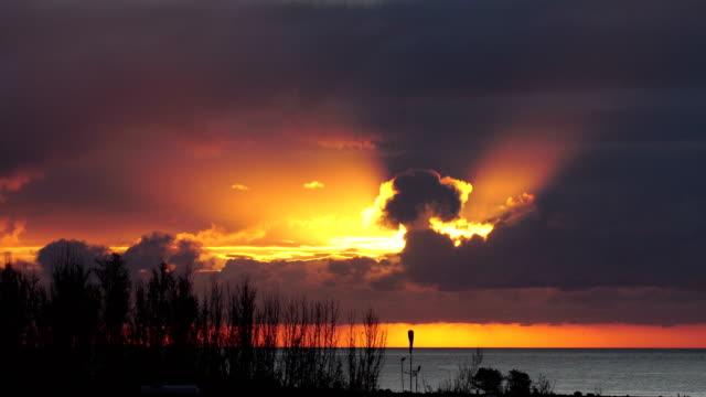bahía feliz sunrise - grand canary - grand canary stock videos & royalty-free footage