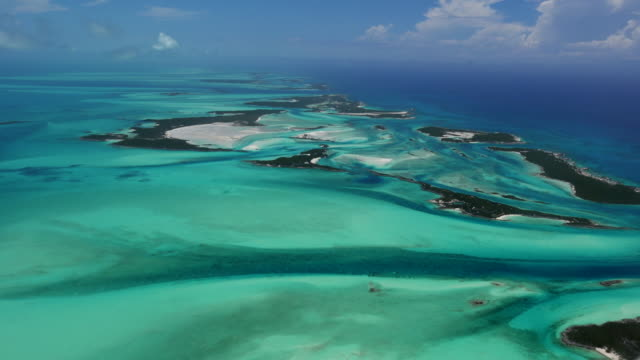 bahamas exuma aerial - bahamas stock videos and b-roll footage