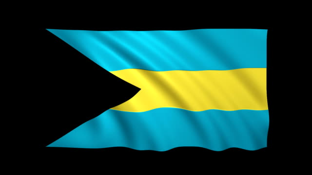 bahamas flag loopable matte included - stock video - bahamas stock videos & royalty-free footage