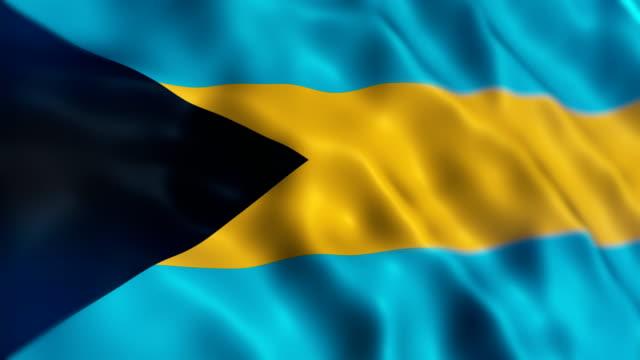bahamas flag - bahamas stock videos & royalty-free footage