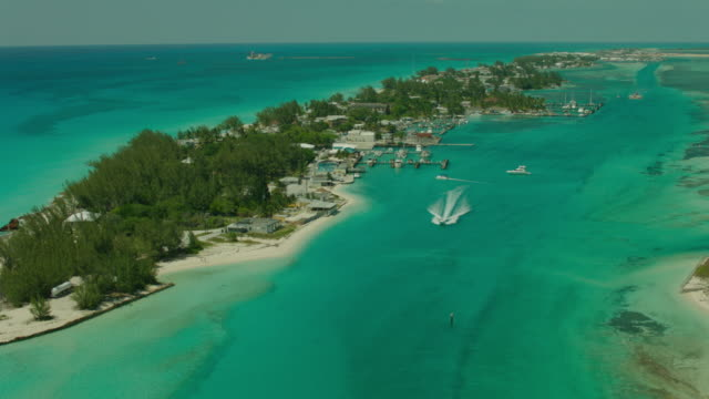 bahamas: marina and tourism port - bahamas stock videos & royalty-free footage
