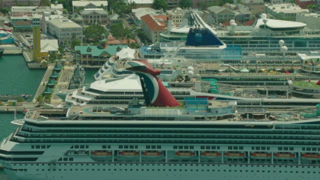 bahamas: nassau bahamas cruise terminal - bahamas stock videos & royalty-free footage