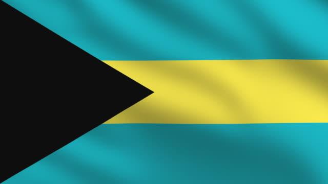 bahamian flag - bahamas stock videos & royalty-free footage