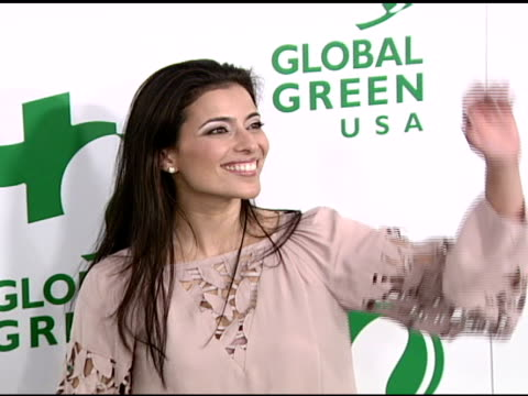 vídeos de stock, filmes e b-roll de bahar soomekh at the global green usa's 5th annual preoscar party at null in hollywood california on february 20 2008 - global green usa