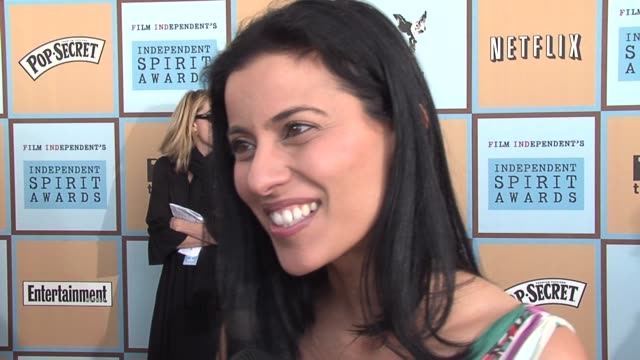 bahar soomekh on partying until late last night and picking her oscar dress at 8 am on the pressure of picking a dress for the academy awards on... - ifp independent spirit awards stock videos and b-roll footage