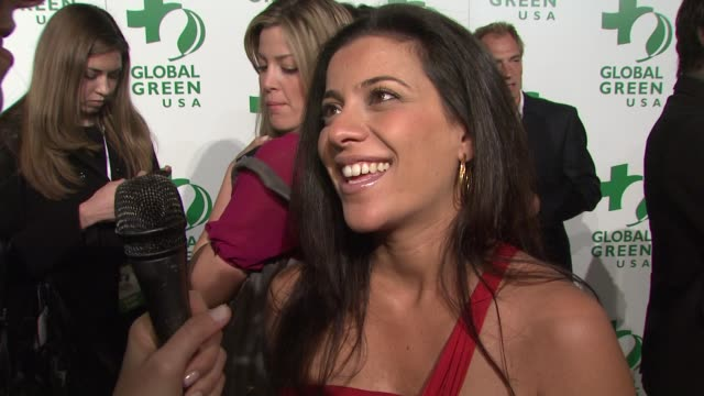 bahar soomekh on when she's due on what she's having and on tonight's event at the global green usa's 6th annual preoscar party benefiting green... - pre party stock videos and b-roll footage