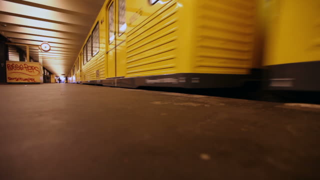 hd: u bahn subway in berlin - passenger train stock videos and b-roll footage
