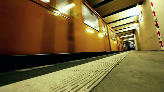 hd: u bahn subway train, berlin - passenger train stock videos & royalty-free footage