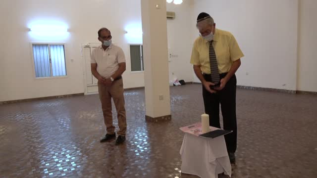 bahraini jews mark the 82nd anniversary of kristallnacht, also known as the night of broken glass, for the first time since the arab nation... - judaism stock videos & royalty-free footage