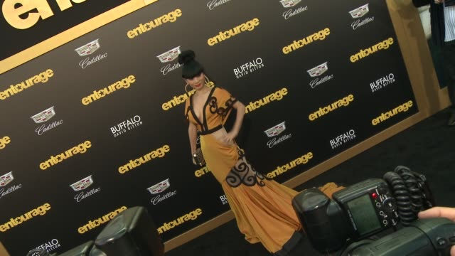 """bai ling at """"entourage"""" los angeles premiere at regency village theatre on june 01, 2015 in westwood, california. - regency village theater stock videos & royalty-free footage"""