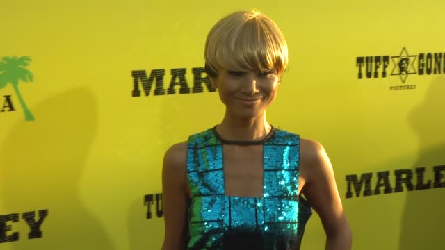vídeos de stock, filmes e b-roll de bai ling at marley los angeles premiere on 4/17/12 in hollywood ca - bai ling