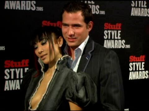 vídeos de stock, filmes e b-roll de bai ling at the 2005 stuff style awards inside at the roosevelt hotel in hollywood, california on september 7, 2005. - bai ling