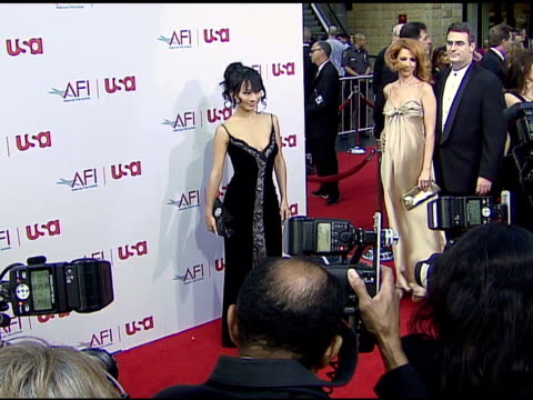 bai ling at the 34th afi life achievement award: a tribute to sean connery at the kodak theatre in hollywood, california on june 8, 2006. - afi life achievement award stock videos & royalty-free footage