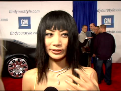 vídeos de stock, filmes e b-roll de bai ling at the 4th annual 'ten' fashion show presented by general motors arrivals and interviews at pavilion in hollywoodpavilion in hollywood in... - bai ling