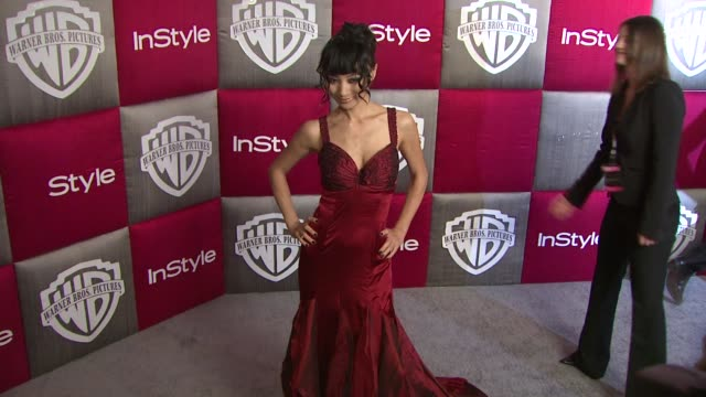 vídeos de stock, filmes e b-roll de bai ling at the instyle 2009 golden globes after party part 3 at los angeles ca. - bai ling