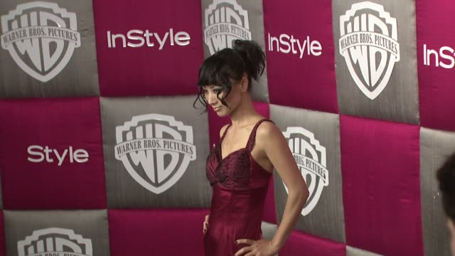 vídeos de stock, filmes e b-roll de bai ling at the instyle 2009 golden globes after party part 4 at los angeles ca - bai ling
