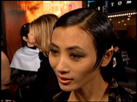 vídeos de stock, filmes e b-roll de bai ling at the premiere of 'the talented mr ripley' at the mann village theatre in westwood california on december 12 1999 - bai ling