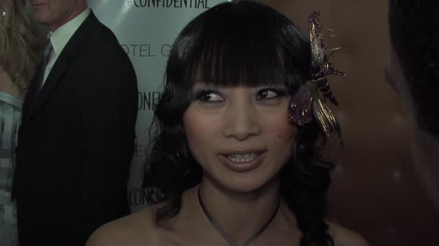 bai ling on fashion and style at the oscars at the los angeles confidential preoscar party hosted by hendrix electric morgans hotel group at the... - pre party stock videos and b-roll footage