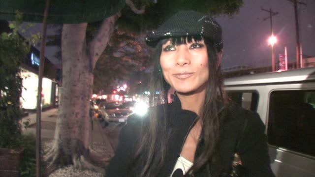 vídeos de stock, filmes e b-roll de bai ling outside madeo in west hollywood at the celebrity sightings in los angeles at los angeles ca. - bai ling