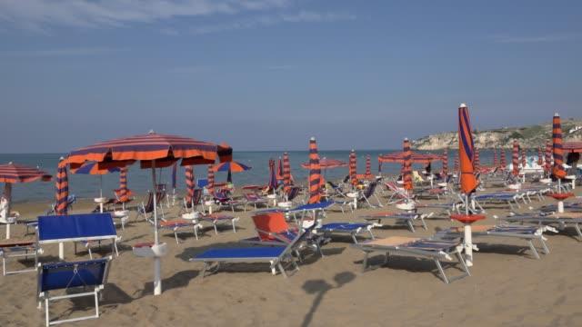 baia san nicola beach at the adriatic sea - adriatic sea stock videos & royalty-free footage