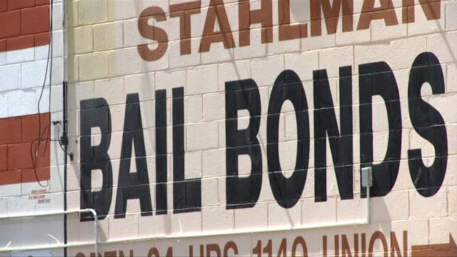 bail bonds businesses on june 16 2011 in san diego california - 保釈点の映像素材/bロール
