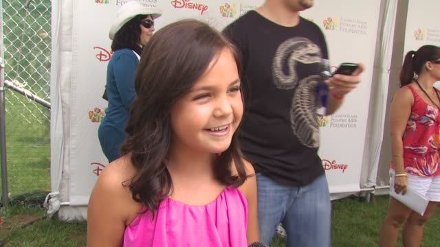 bailee madison on importance of event at the 21st annual 'a time for heroes' celebrity picnic benefit at los angeles ca - a time for heroes stock videos & royalty-free footage
