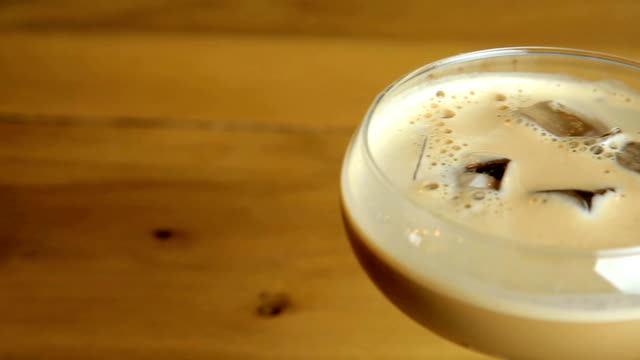 baileys espresso martini - espresso stock videos & royalty-free footage