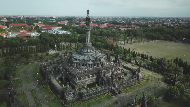 bajra sandhi monument / denpasar, bali, indonesia - monument stock videos & royalty-free footage