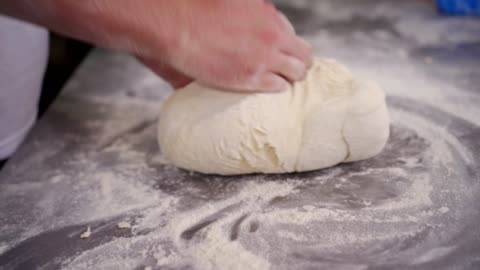 baker kneading the dough - homemade stock videos & royalty-free footage