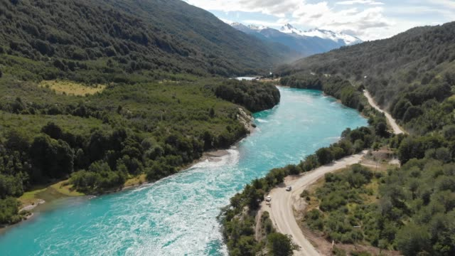 baker river in the chilean patagonia - mountain range stock videos & royalty-free footage