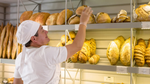 Baker working at the bakery