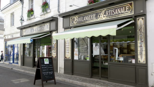 bakery in old town of amboise - bakery stock videos and b-roll footage