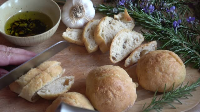 baking artisan bread rolls - home made stock videos and b-roll footage