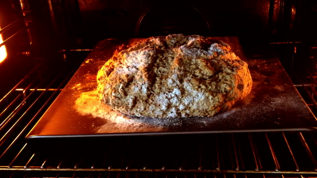 baking brown soda bread - brown bread stock videos and b-roll footage