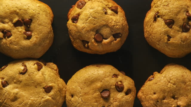 baking chocolate chip cookies: concept - blueberry muffin stock videos & royalty-free footage