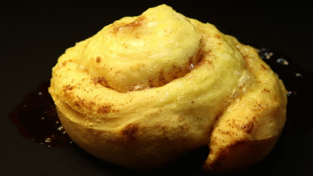 baking cinnamon rolls: concept - croissant stock videos & royalty-free footage