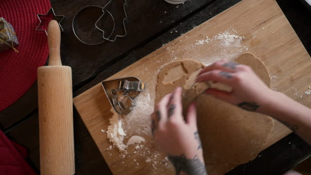 Baking Gingerbread Cookies for Christmas