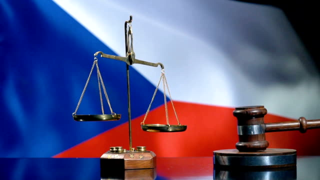Balance and Gavel with Czech Flag