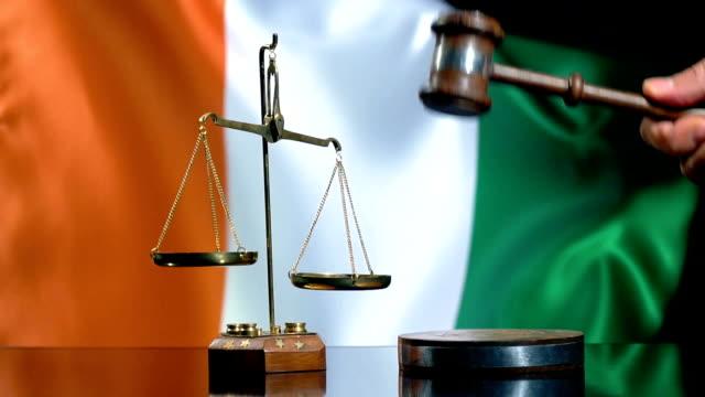 Balance and Gavel with Ivorian Flag