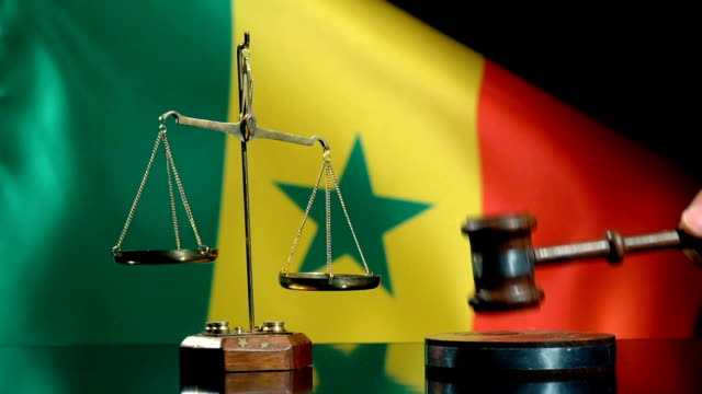 Balance and Gavel with Senegalese Flag