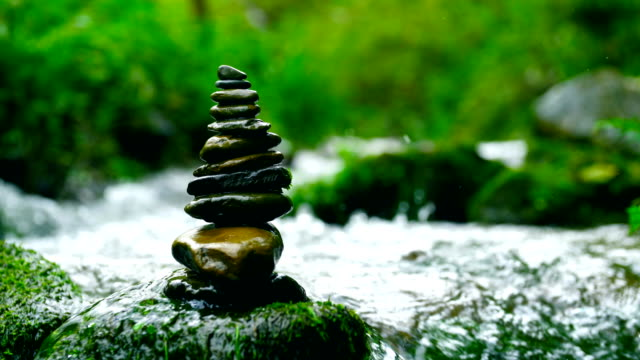 balance and harmony stone in nature - balance stock videos and b-roll footage