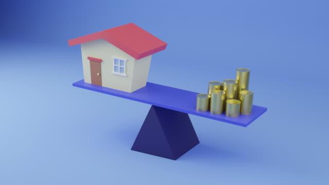 vidéos et rushes de balance finances and house - stabilité