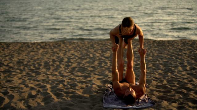 balancing on feet - balance stock videos and b-roll footage