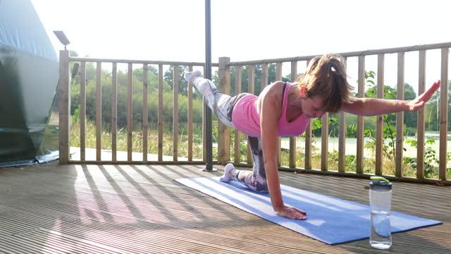 balancing table pose - zen like stock videos & royalty-free footage