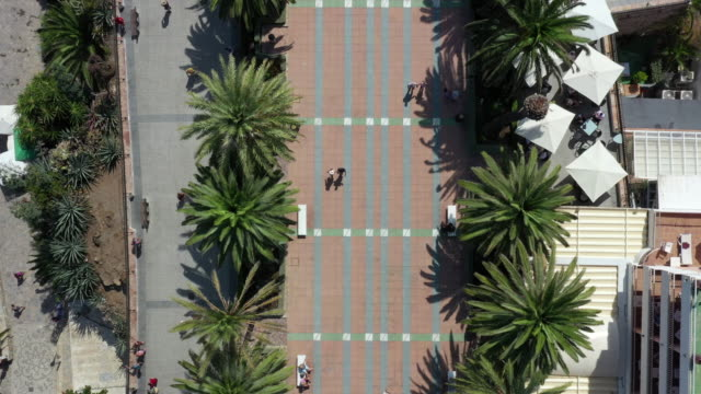 balcon de europa plaza scenery / nerja, malaga, spain - stone object stock videos & royalty-free footage