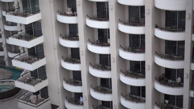 balconies in cabo san lucas, mexico - cabo san lucas stock videos & royalty-free footage