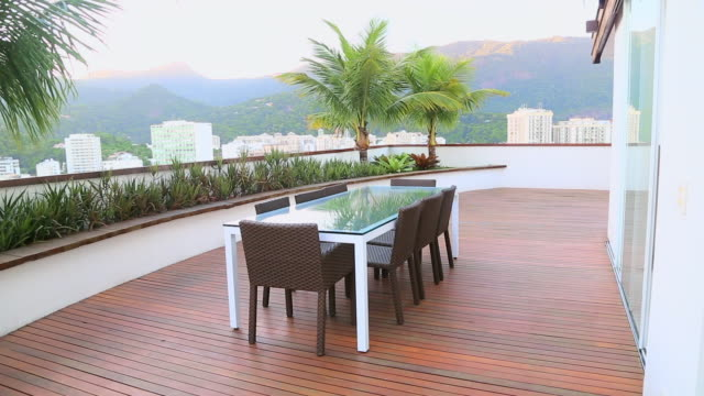 balcony with view of rio de janeiro - villa stock videos & royalty-free footage